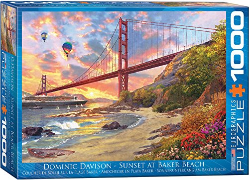 EuroGraphics Baker Beach, California by Dominic Davison Jigsaw Puzzle (1000-Piece)