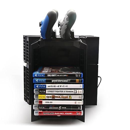 3 in 1 Multifunzioni Accessori Kit Video Games Disc Tower Bagagli e Console  Stand con Dual