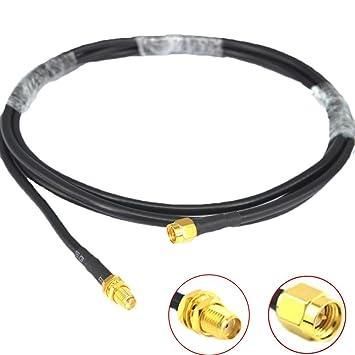 Bajo Pérdida Antena Wifi Cable 2 m SMA macho a SMA hembra RG58 Coaxial 50 Ohm
