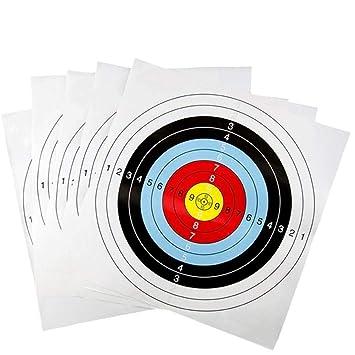 Amazon com: Mcree 10 Pcs Archery Paper Shooting Targets Set Shooting