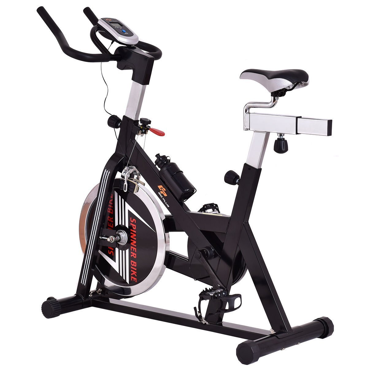 Gymax Stationary Exercise Bike w/ Adjustable Seat and Handlebars, Indoor Cycling Bike Cardio Fitness Home Gym Equipment by Gymax (Image #1)