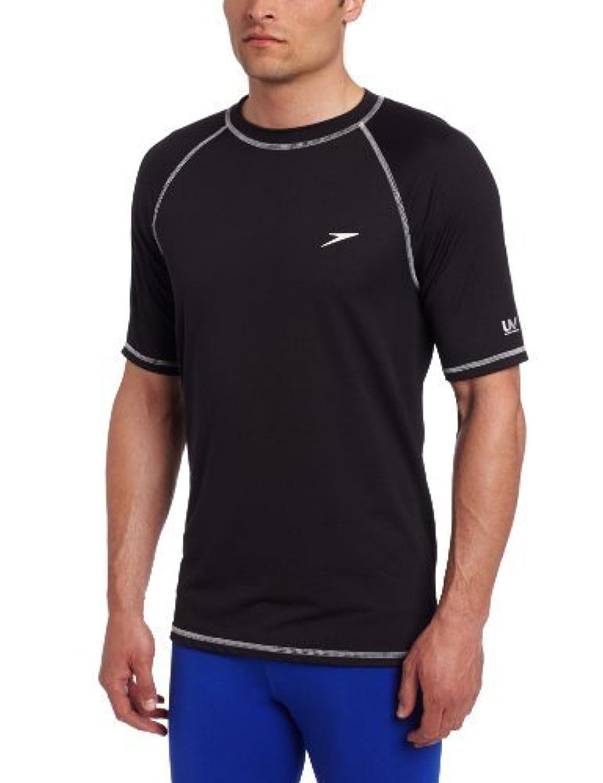 【即納】 SpeedoメンズEasy Short Sleeve Swim Shirt SpeedoブラックM & & Sunlotion Shirt B01MRWQXW9 B01MRWQXW9, アリアケマチ:e8027d99 --- vezam.lt