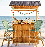 "Bamboo Tiki Bar w/Tiled Roof 24""W x 76""Lx 89""H"