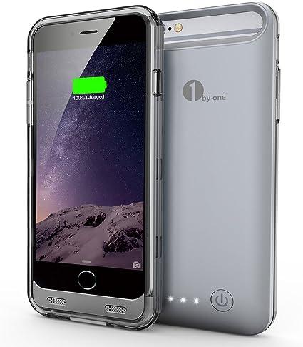 1byone [Apple MFi Certified] 3100mAh iPhone 6/6s Battery Charger Case (4.7 Inches) [Grey],External Protective iPhone 6/6s Charger Case/Charging Case/Power Case,iPhone 6/6s USB Juice Bank, [Importado de Reino Unido]: Amazon.es: Electrónica