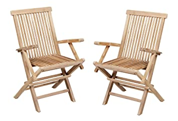 2x Grade A Teak Foldable U0027Lakelandu0027 Chairs By Liz Frances