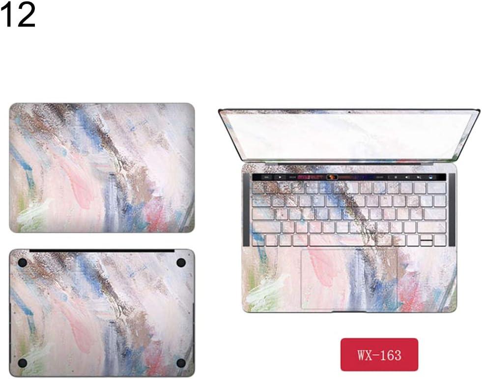 Homeofying Autocollant pour Ordinateur Portable MacBook Air Pro Retina pour MacBook Air Pro A1706//Bar A1708//A1707//A1342//A1181 Motif Fleur for Macbook Air 13 Couleur 1#