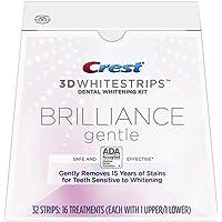 Crest 3D Whitestrips Brilliance Gentle Teeth Whitening Kit, 16 Treatments