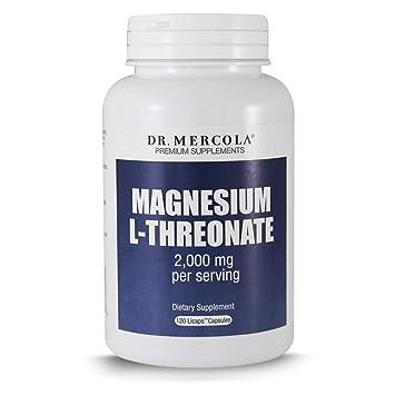 DR MERCOLA Magnesium L-Threonate Capsules, 90 Count, 30 Servings