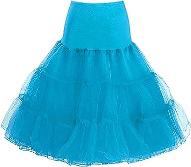 Mujeres Miriñaques Cancan 50s Retro Rockabilly falda del tutú ...