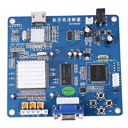 Atomic Market VGA/RGB/CGA/EGA/YUV TO HDMI Video Output Converter Board HD Arcade Blue ()