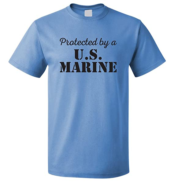 cc29b663f192 USMC Shirt - Protected by a US Marine - Marine Corps USMC Girlfriend Shirt  - US