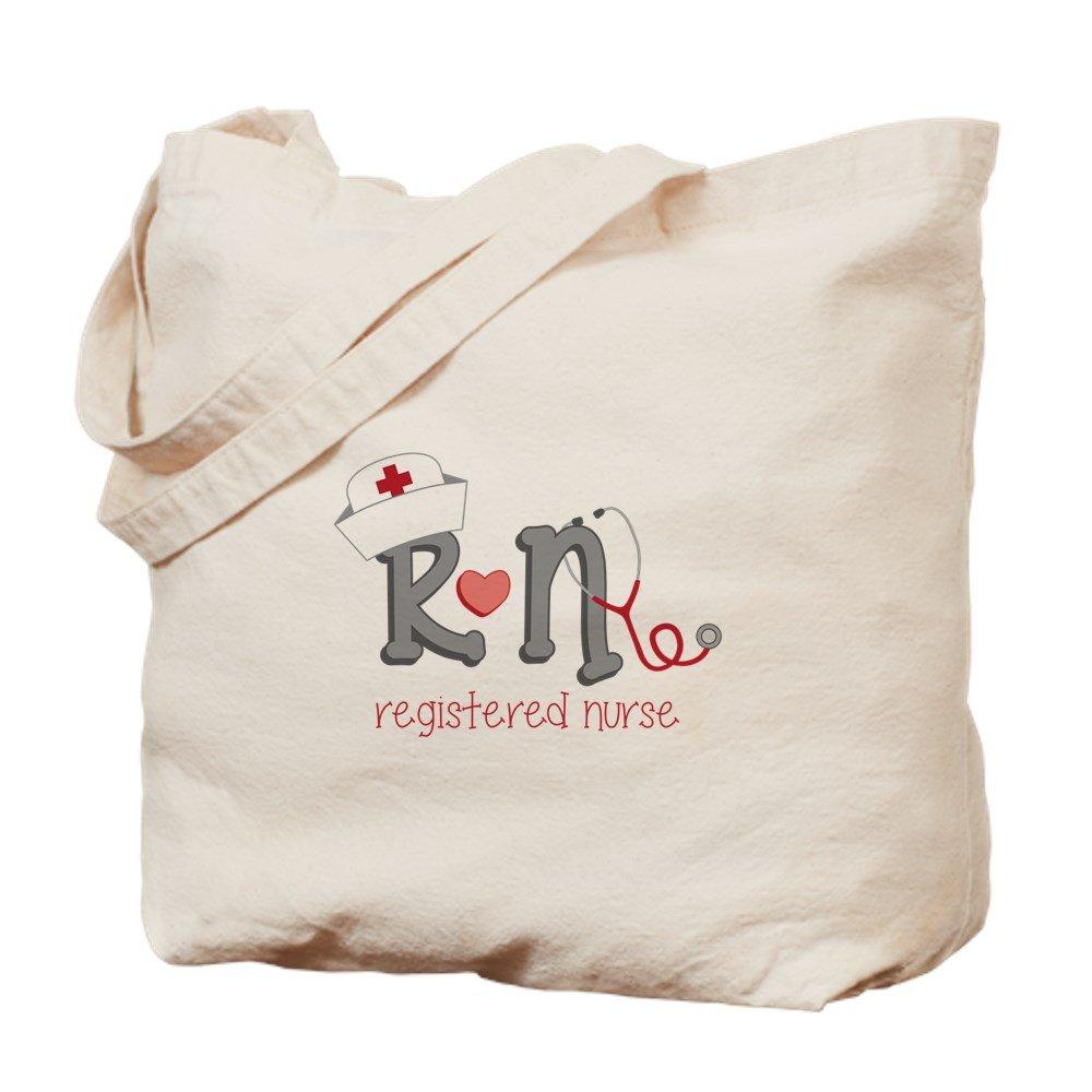 CafePress – 登録看護師 – ナチュラルキャンバストートバッグ、布ショッピングバッグ M ベージュ 14201590306893C B073QTJZ2H MM