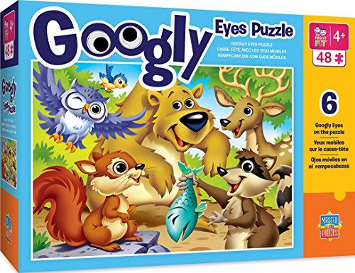 MasterPieces Googly Eyes - Woodland Animals - 48 Piece Kids Puzzle ()