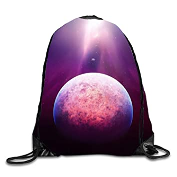 ERCGY Sackpack Purple Light Above The Planet Drawstring Bag ...
