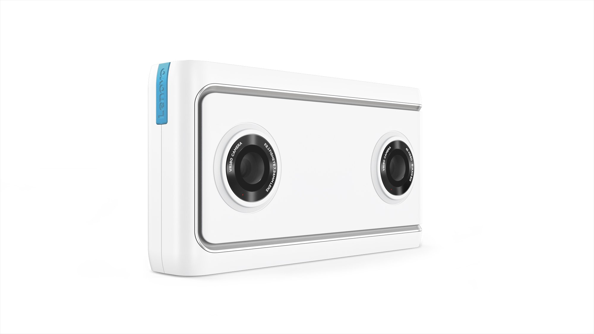 Lenovo Mirage Camera with Daydream, VR-Ready Photo and Video Camera, Integration with YouTube and Google Photos, Smartphone Compatibility, Moonlight White by Lenovo