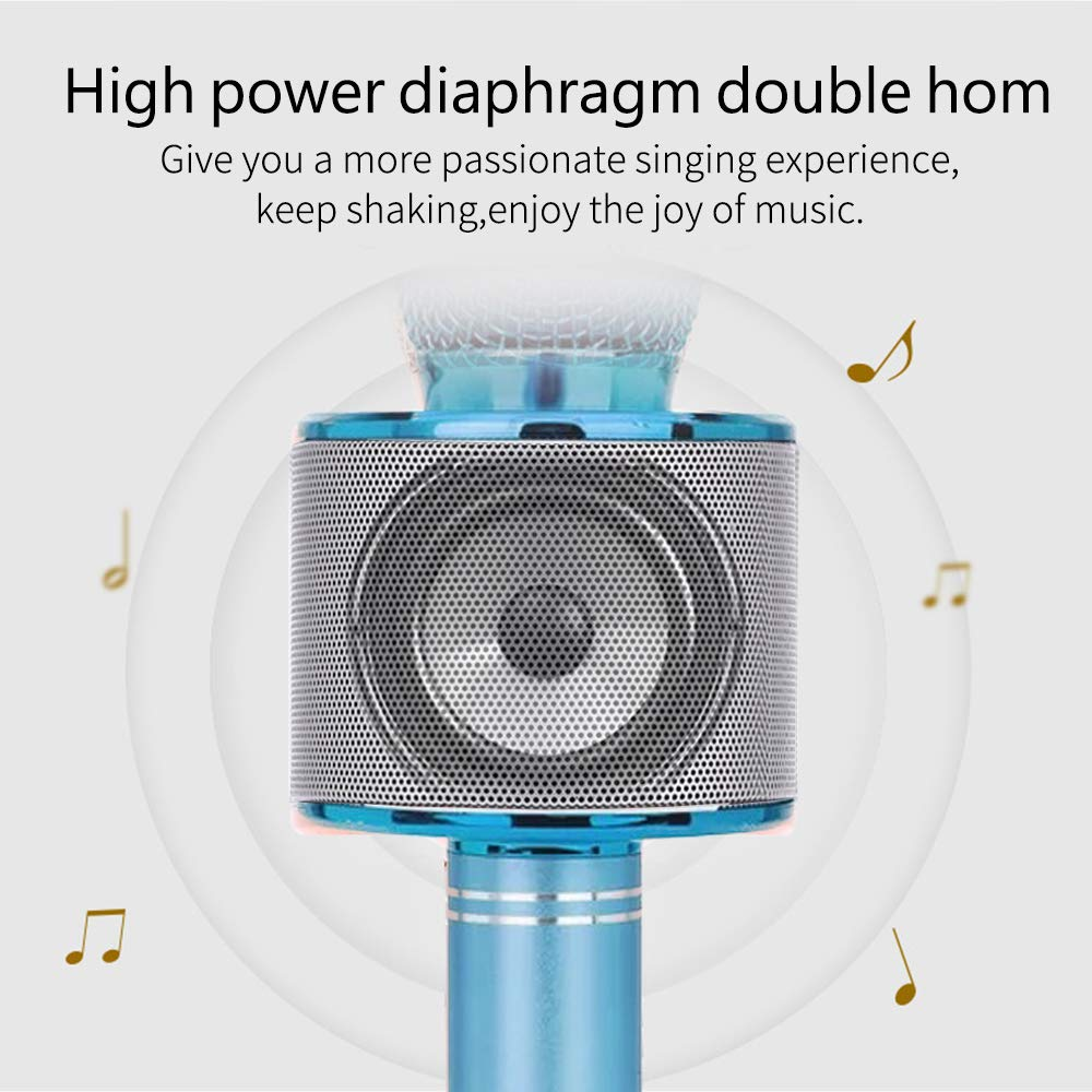 Gift for 6-10 Year Old Girl, Wireless Bluetooth Microphone for Kids Girls Party Toy for 4-7 Year Old Girl Boys Karaoke Microphone Toy Age 6 7 8 Girls Birthday Gift for Girl Blue Mic by Moff (Image #6)
