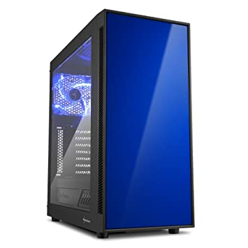 Sharkoon AM5 WINDOW - Caja de Ordenador, PC Gaming, Semitorre ATX, Negro/
