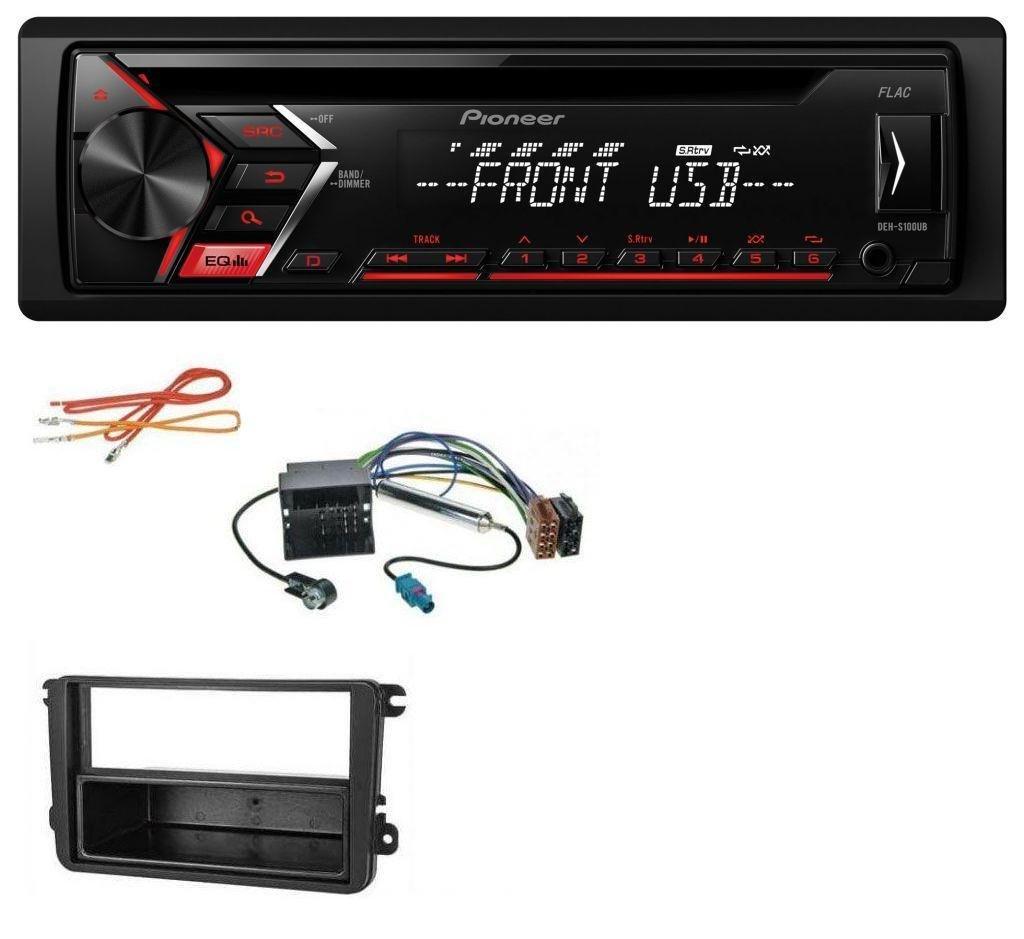 caraudio24 Pioneer DEH-S100UB USB MP3 Aux CD 1DIN Autoradio fü r VW Passat 05-10 Polo 09-14 Scirocco ab 08