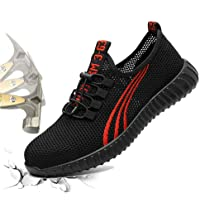 KYCraft Steel Toe Shoes Work Safety Shoes for Men and Women Sneakers Shoes Anti-Smashing Lightweight Breathable…