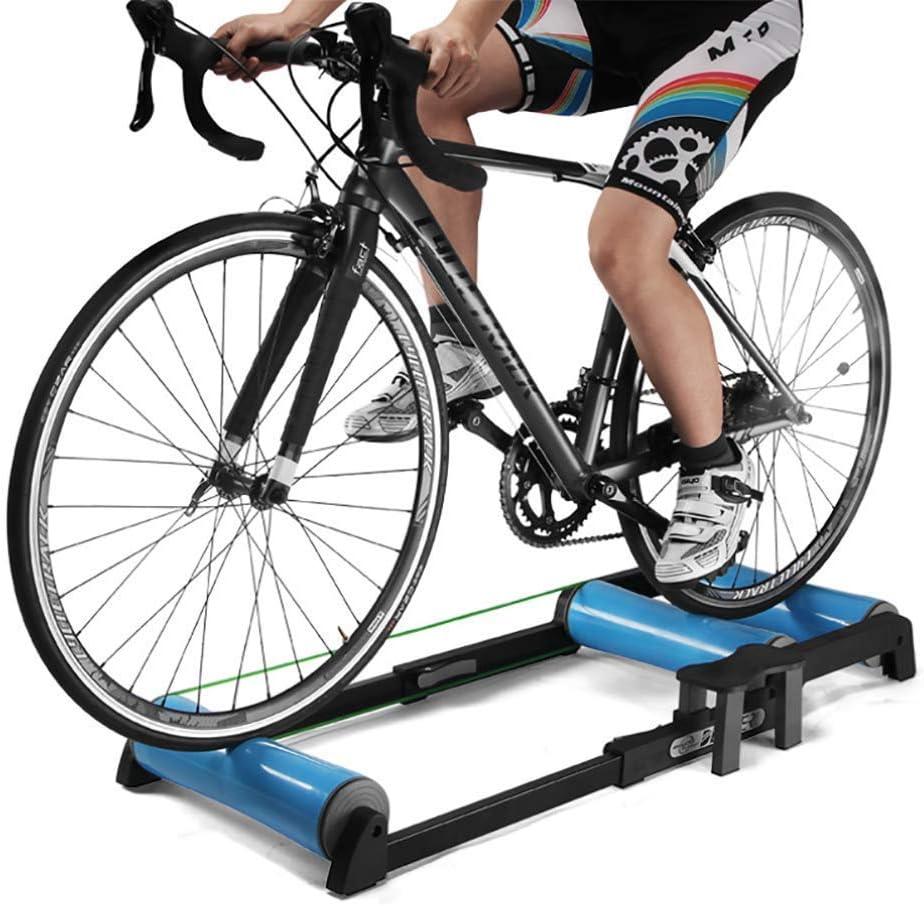 Bicicleta Resistencia Entrenadores Interior, Bicicleta Roller Riding Plataforma ejercicio Bicicleta carretera Rodillo Mesa entrenamiento Bicicleta giratoria para entrenamiento en todas las estacione: Amazon.es: Deportes y aire libre