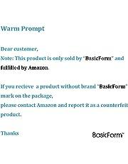 BasicForm Porta Cepillo de Dientes y Pasta de Acero Inoxidable para Tocador Encimera de Baño