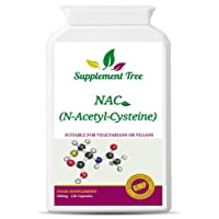 NAC N-Acetyl-Cysteine 600 mg 120 Capsules | Liver & Lung Function Support Supplement | Vegans & Vegetarians Friendly | UK Manufactured
