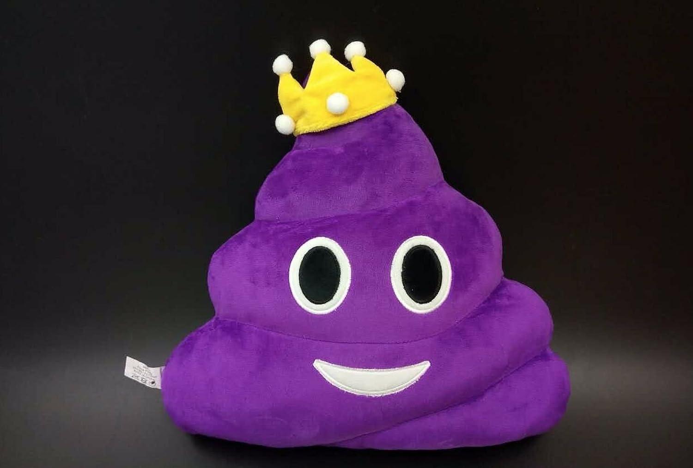 Amazon.com: Señora púrpura Cojín Caca con forma de emoticono ...