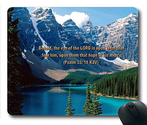 Inspirational Bible Verse Quotes Psalm 33:18 Oblong Mouse Pad in 240mm*200mm*3mm VQ0711035