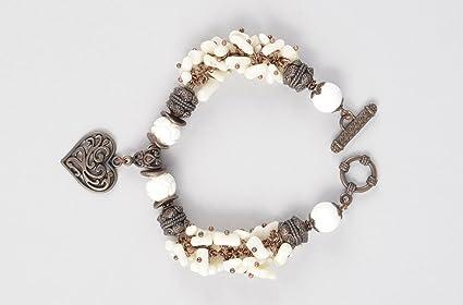 038124e4d017 Pulsera hermosa de metal y piedras hecha a mano accesorio de moda ...