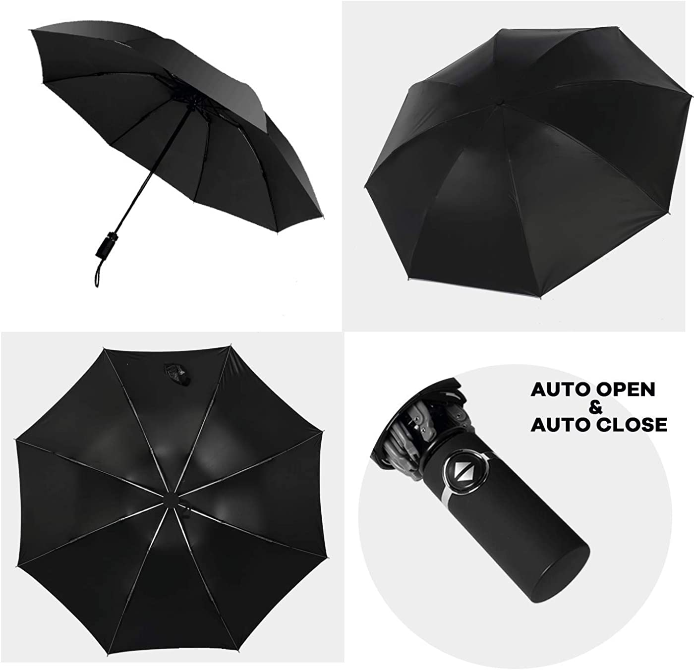 Double Layer Inverted Inverted Umbrella Is Light And Sturdy Close On Blue Eyes Dog Reverse Umbrella And Windproof Umbrella Edge Night Reflection