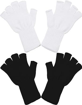 Lengthen Wrist Warm Gloves Fingerless Knit Gloves Half Finger Gloves