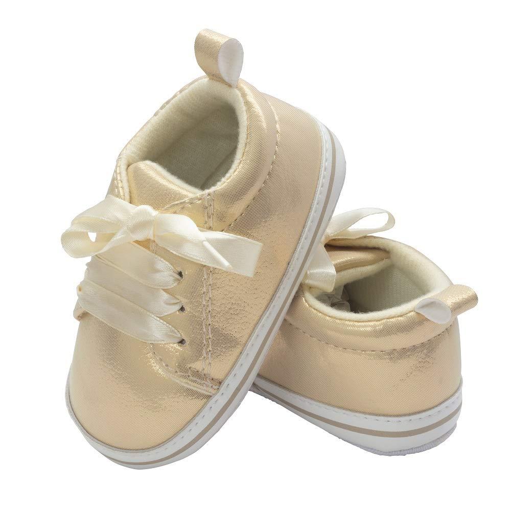 Little Me Kids Metallic Pale Gold Baby Girl Sneakers