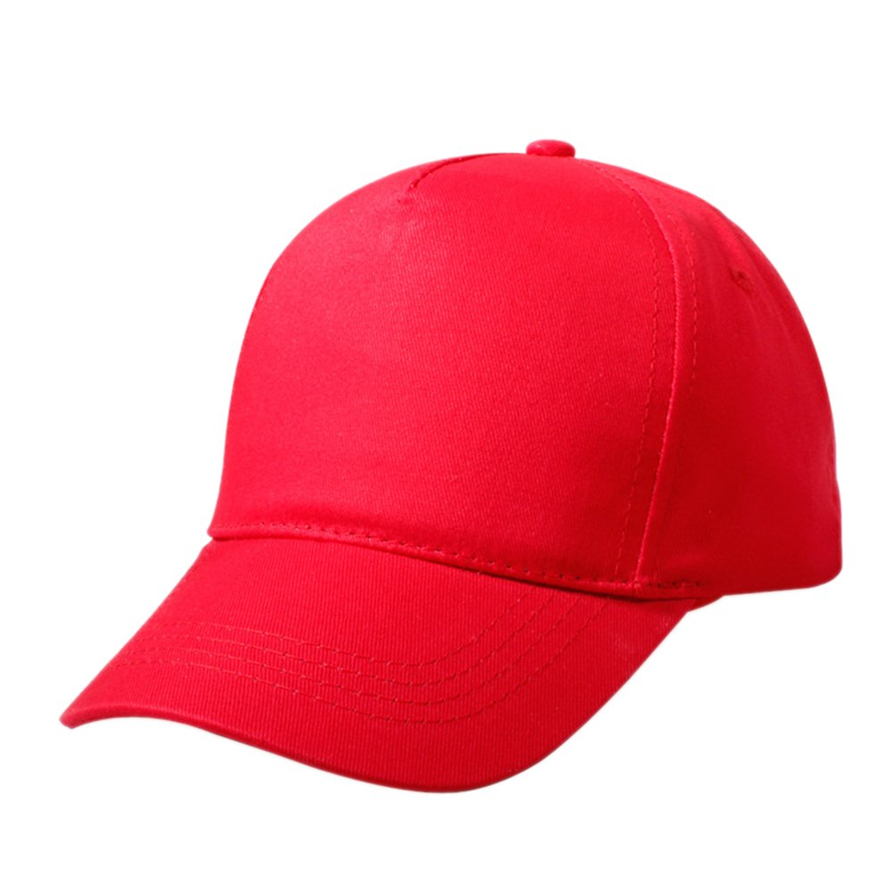 Opromo Kids Two Tone Baseball Cap, Adjustable Hat, Comes in Different Colors-Red-48PCS by Opromo