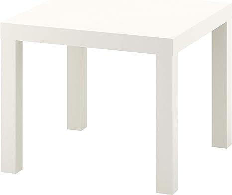 Ikea Mesa Auxiliar, Madera, Blanco, 55x55x45 cm: Amazon.es: Hogar