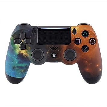 eXtremeRate Funda Delantera Transferencia en Agua Carcasa Frontal Cubierta Antideslizante para el Mando del Playstation 4 PS4 Slim Pro con CUH-ZCT2 ...