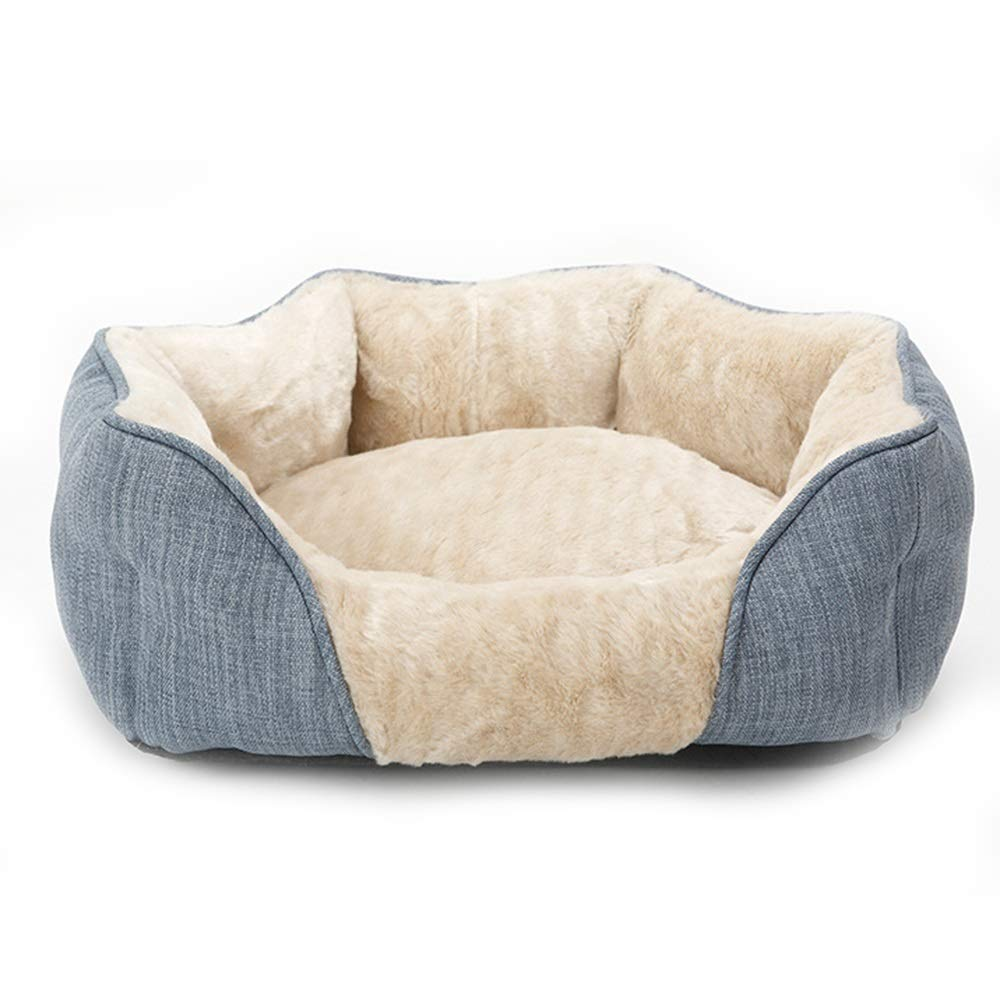 A M A M HU Pet Nest Cotton Velvet Round Detachable Warm Cat Kennel Indoor And Outdoor Universal (color   A, Size   M)