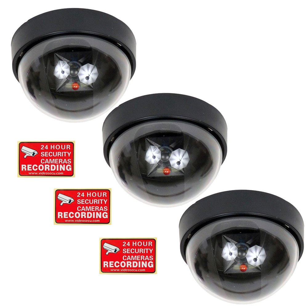 Amazon com : VideoSecu 3 Fake Dummy Dome Imitation Security
