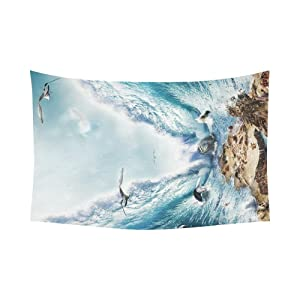 Unique Debora Custom Wall Tapestry Crossing The Red Sea 60x51 Inch Cotton Linen Tapestry Wall Hanging Art 60WD51