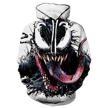 XYQB Camisa con Capucha para Hombre Venom Impresión 3D Sudadera con Capucha Sudadera con Capucha Casual Sudadera al Aire Libre: Amazon.es: Deportes y aire ...