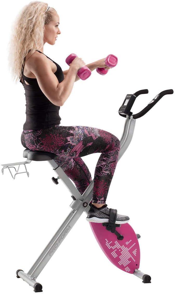 CADENCE. Proform Unisex - Bicicleta estática plegable X-Bike Elite (rosa)