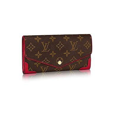 9b2a1057a925a Authentic Louis Vuitton Monogram Canvas Sarah Wallet Retiro Article:M61184