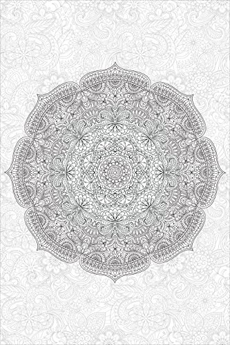Wall Pops WPK2181 Paradise Mandala Coloring Wall Decal