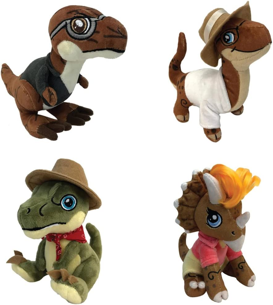 Aurora Monkey Stuffed Animal, Amazon Com Plush Jurassic Park Clawzplay Wave 1 Set Of 4 Toys Games