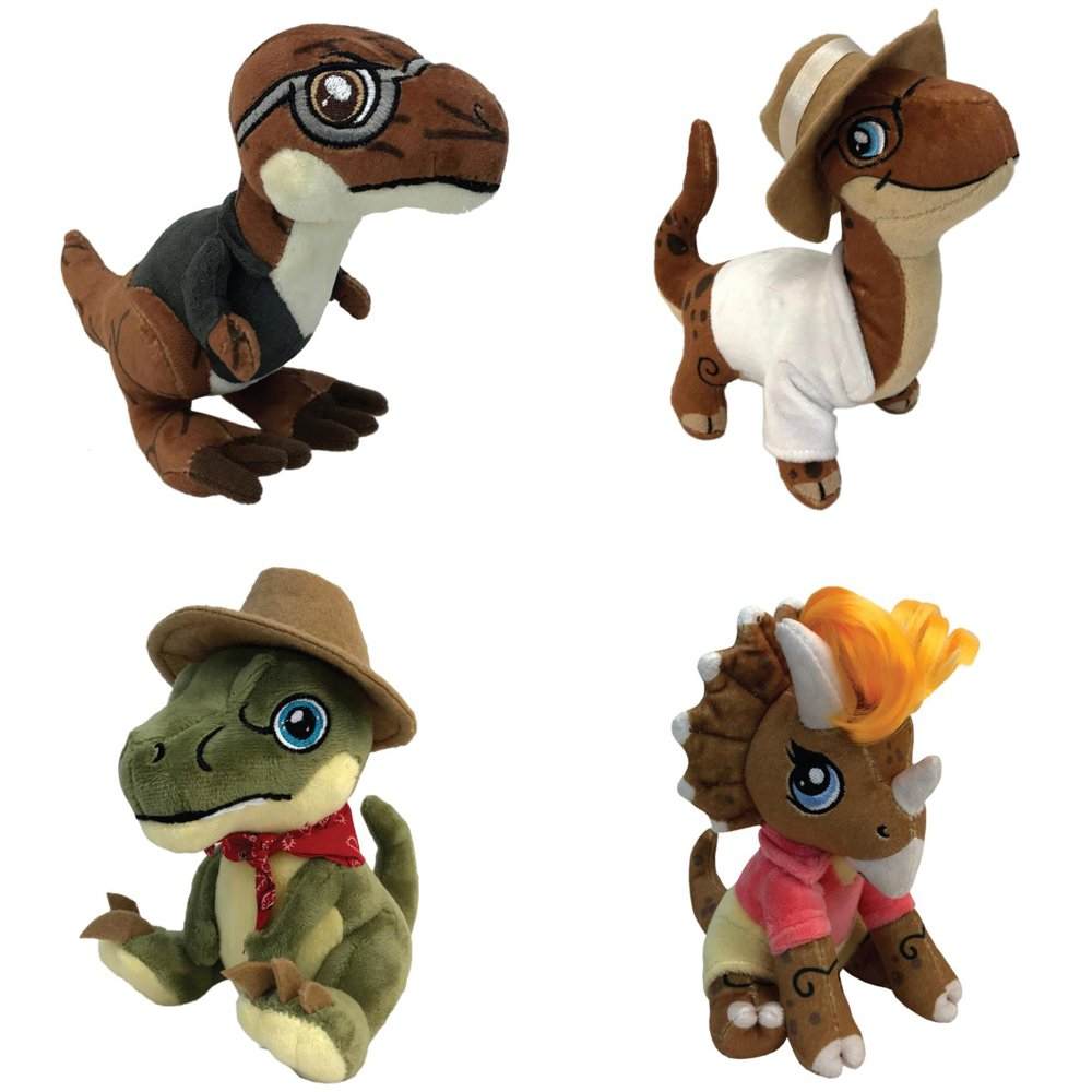 Jurassic Park Clawzplay Plush Wave 1 Set Of 4 Toys Games Fuse Box