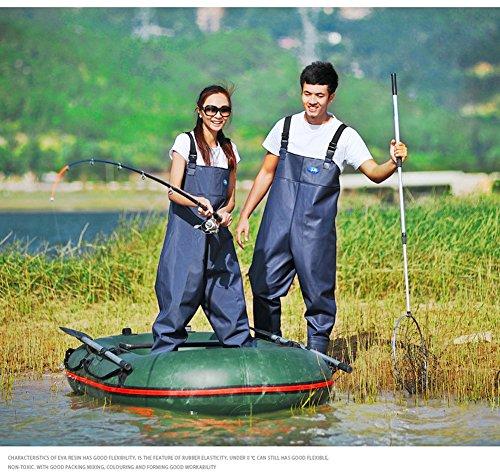 Webetop men 39 s fishing chest waders with boots waterproof for Men s fishing waders