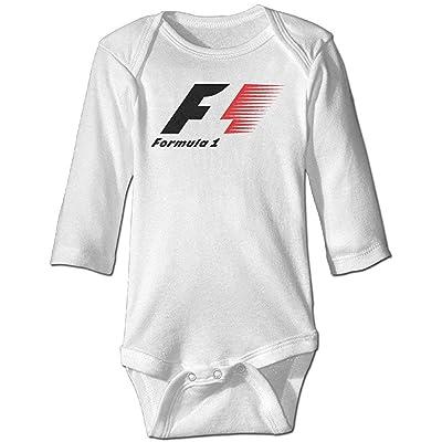 Baby's F1 Racing Formula 1 Logo Hanging Bodysuit Long Sleeve 6Months Vêtements et accessoires