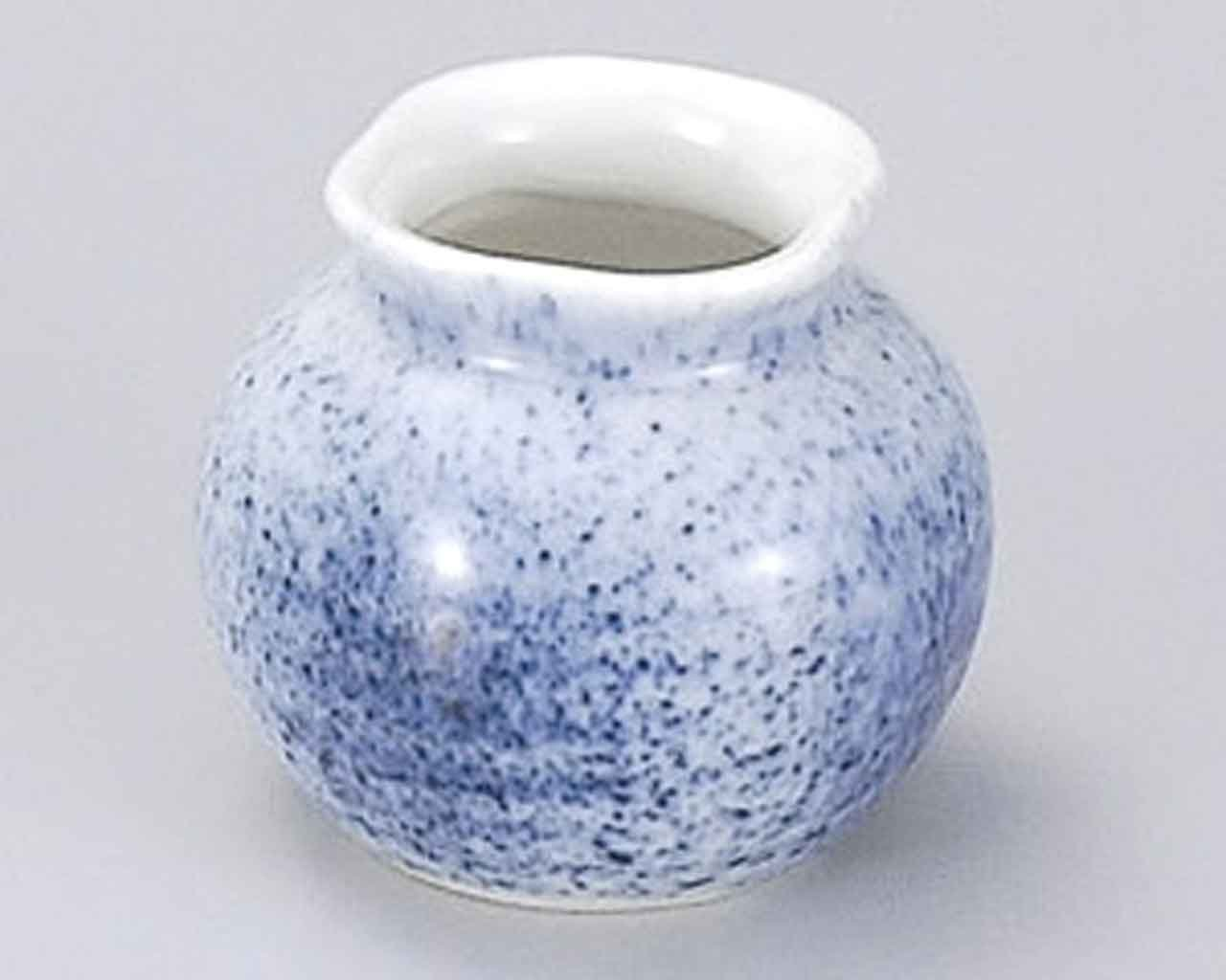 Sumi Blue Blow 2.2inch Set of 5 Toothpick holders White porcelain Made in Japan by Watou.asia