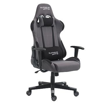 mieux aimé 925a8 d8075 IDIMEX Chaise de Bureau Gaming Swift Racer Chair Style Racing Gamer,  Fauteuil Ergonomique pivotant, siège à roulettes avec Dossier inclinable et  ...