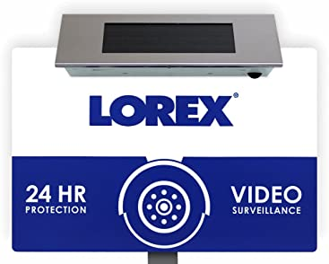 Lorex Outdoor Security Yard Sign with Built-in Bright Solar Powered LED Light
