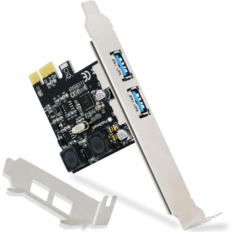 FebSmart 2 Ports USB 3.0 Super Fast 5Gbps PCI Express (PCIe)